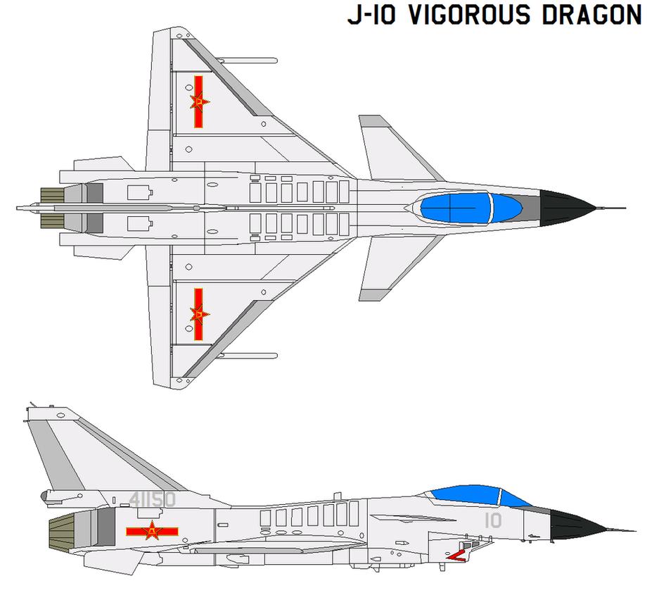 Chengdu J-10 Vigorous Dragon by bagera3005
