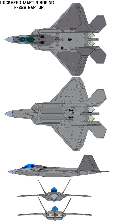 Lockheed Martin F-22A ...F 22 Drawing