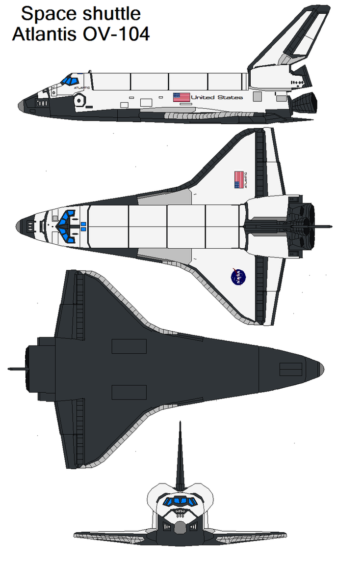 Atlantis OV-104 by bagera3005 on DeviantArt