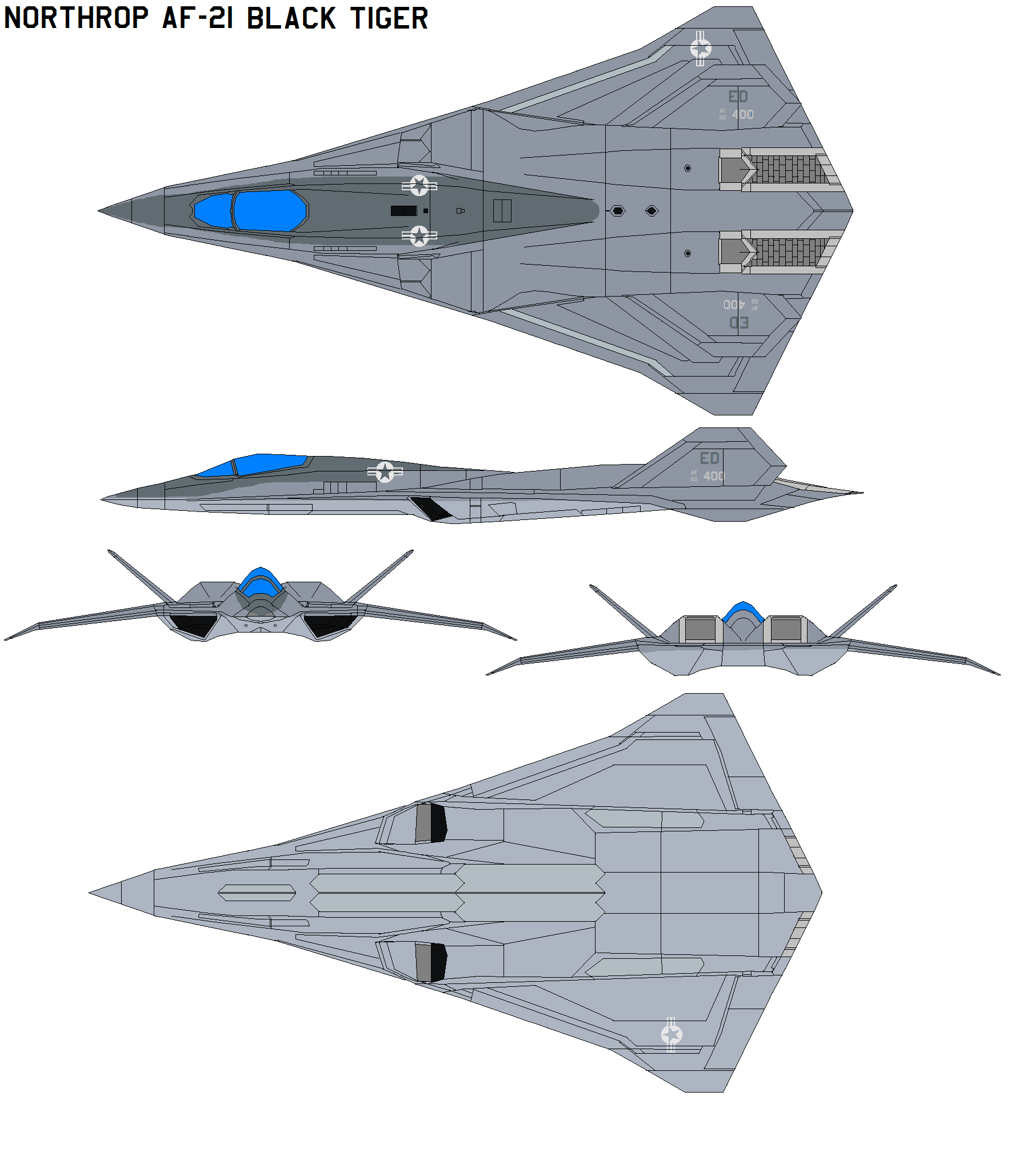 Northrop AF-21 Black tiger by bagera3005
