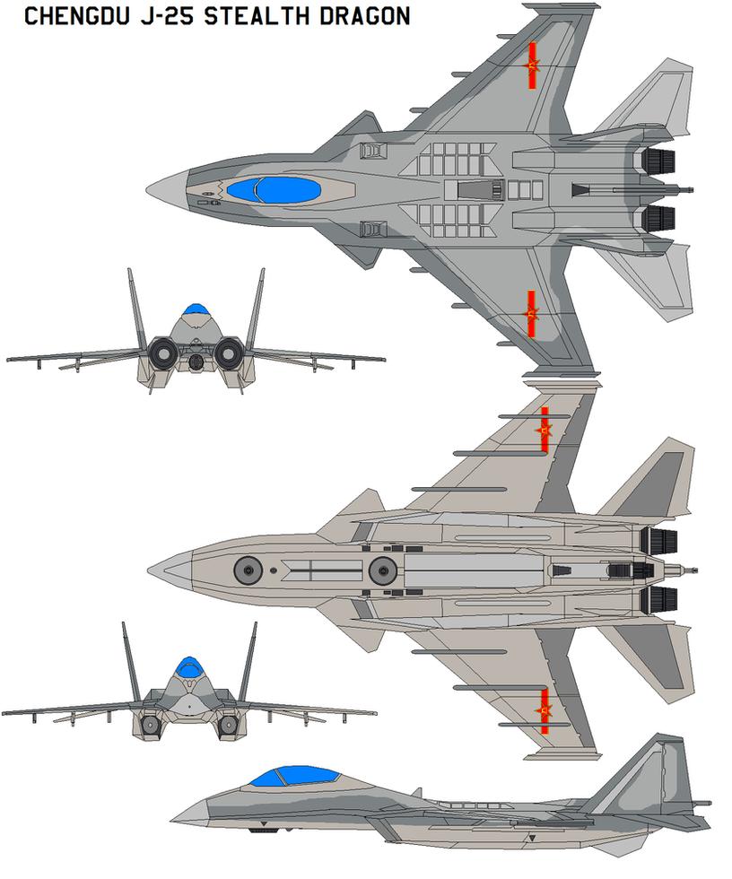 Chengdu J-25 stealth Dragon by bagera3005