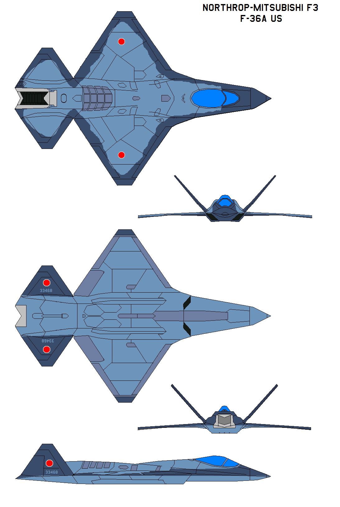 Northrop Mitsubishi F3 F 36a By Bagera3005 On Deviantart