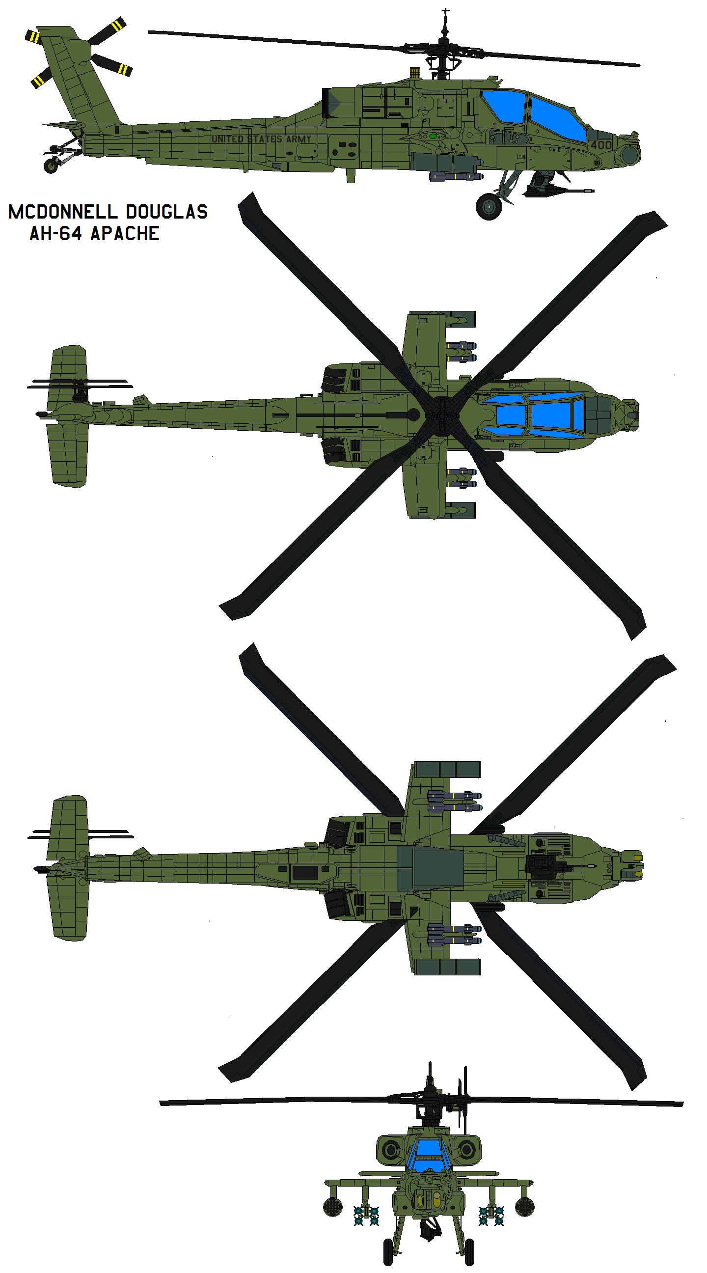 McDonnell Douglas AH-64 APACHE by bagera3005