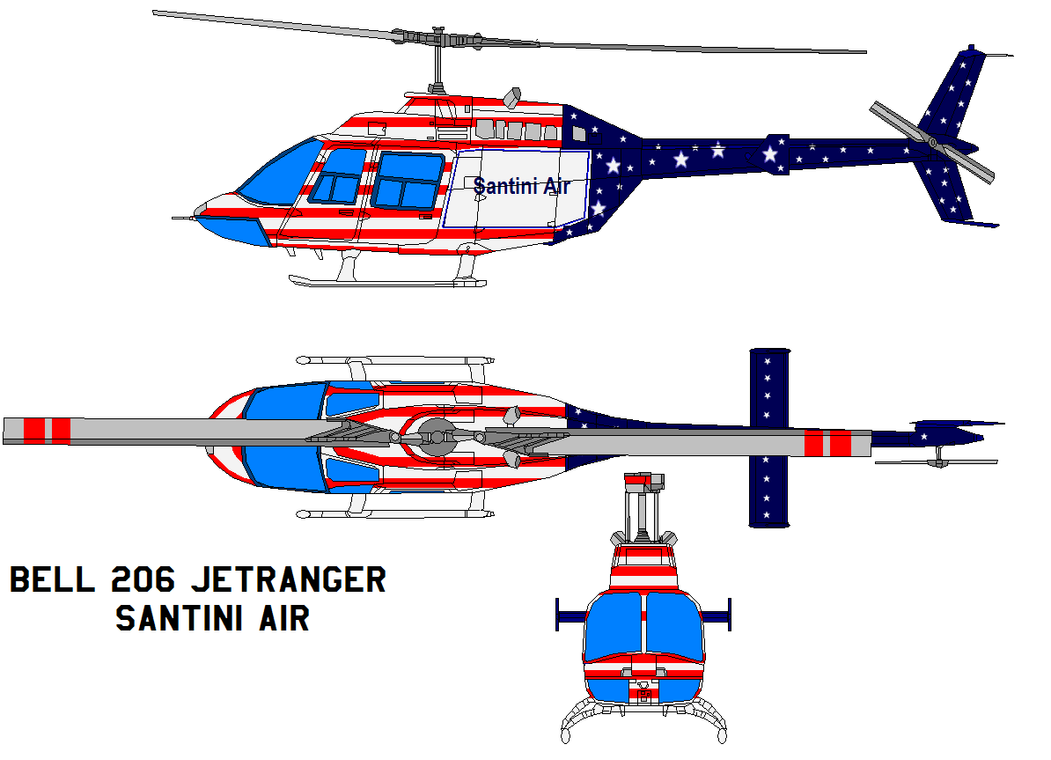 bell 206 JetRanger santini air by bagera3005