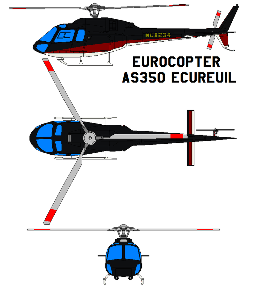 Eurocopter AS350 Ecureuil by bagera3005 on DeviantArt
