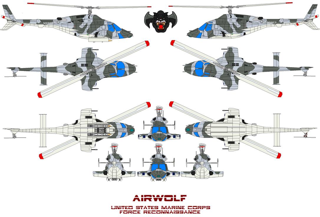 AIRWOLF U.S.M.C. RECON by bagera3005