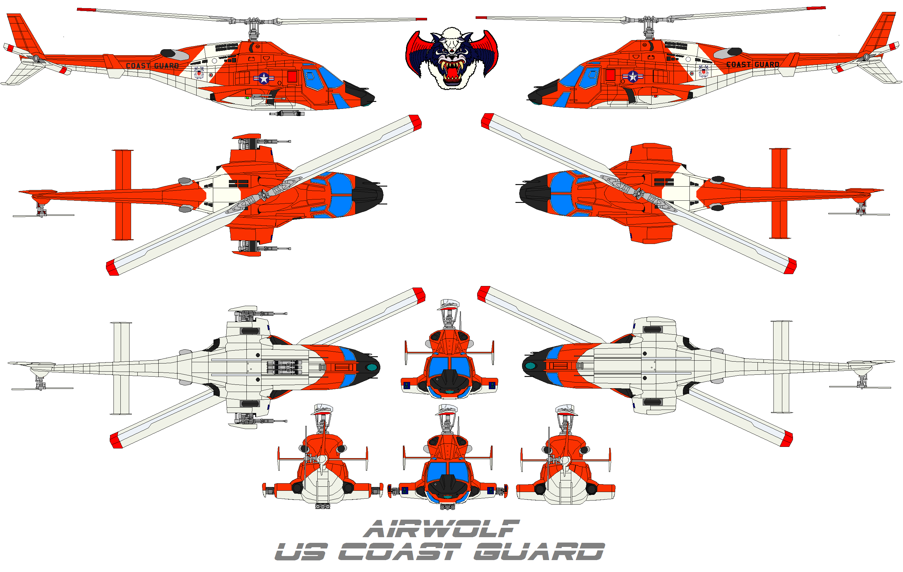 AIRWOLF US Coast Guard by bagera3005
