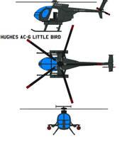 Hughes AC-6 Little Bird by bagera3005
