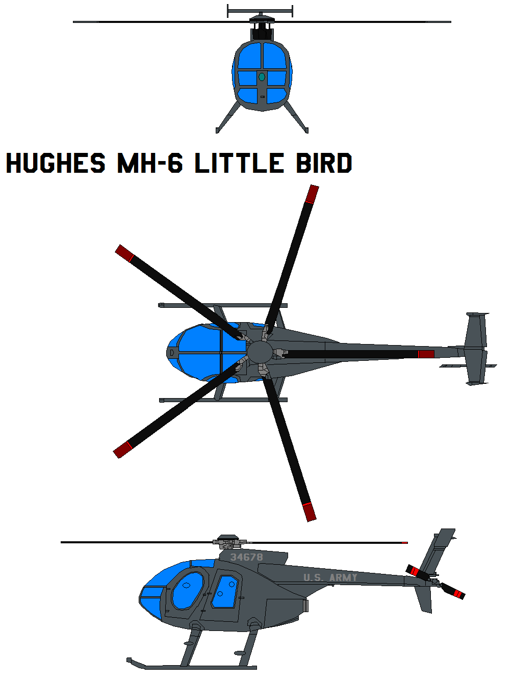 single rotor helicopter with Hughes Mh 6 Little Bird 102971708 on Helicopter drawings additionally 03468 moreover Black shark moreover Sikorsky H 34 Choctaw Seabat Seahorse together with 500.