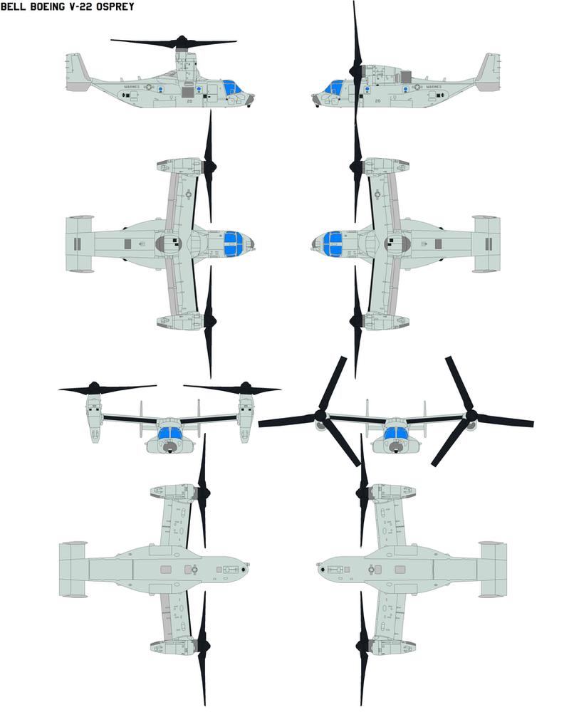 Bell Boeing V-22 Osprey by bagera3005