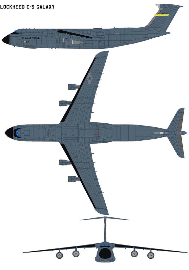 Lockheed C-5 Galaxy by bagera3005
