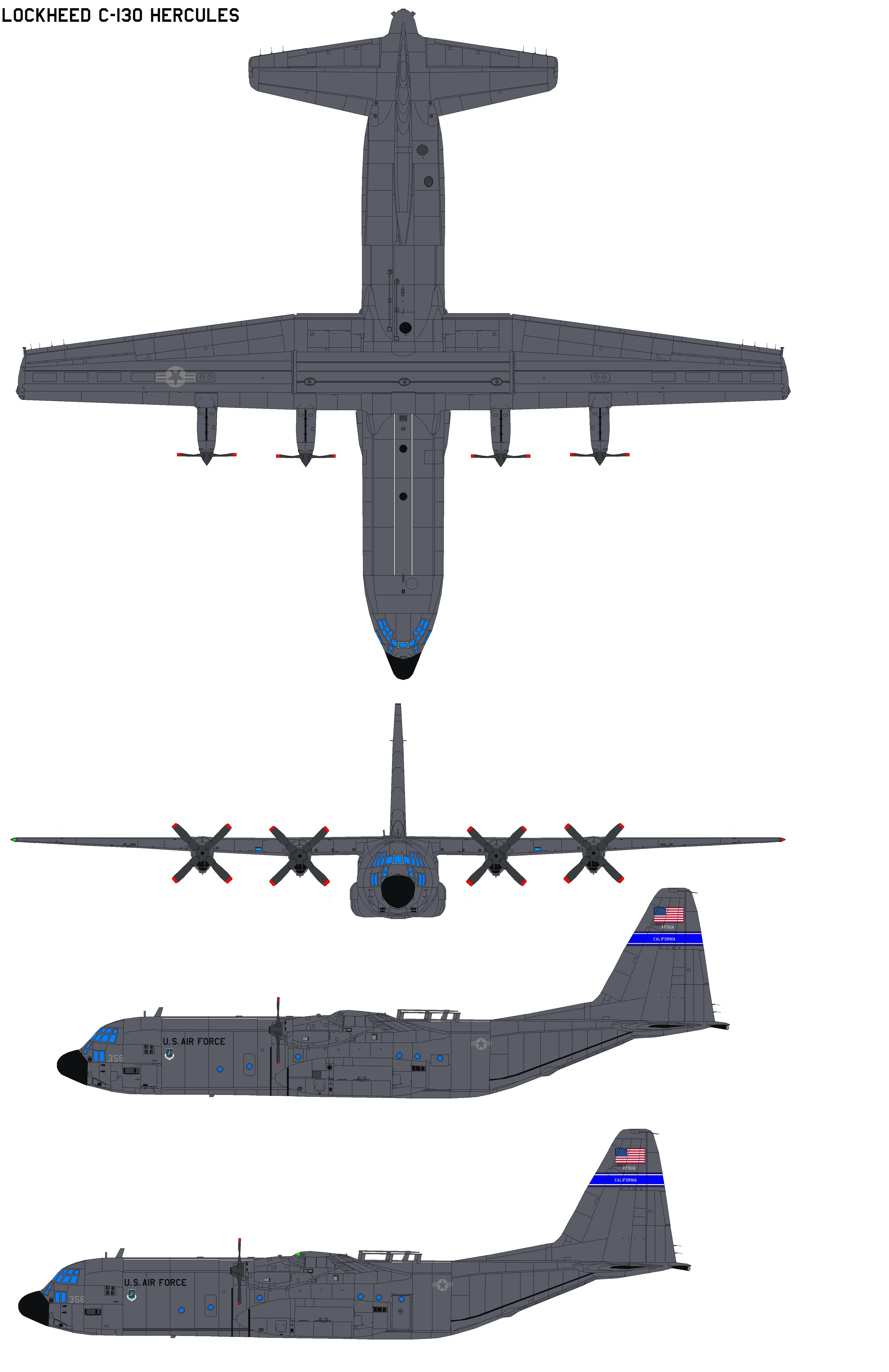 Lockheed C 130 Hercules By Bagera3005 On Deviantart