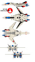 VF-19 Excalibur alpha one