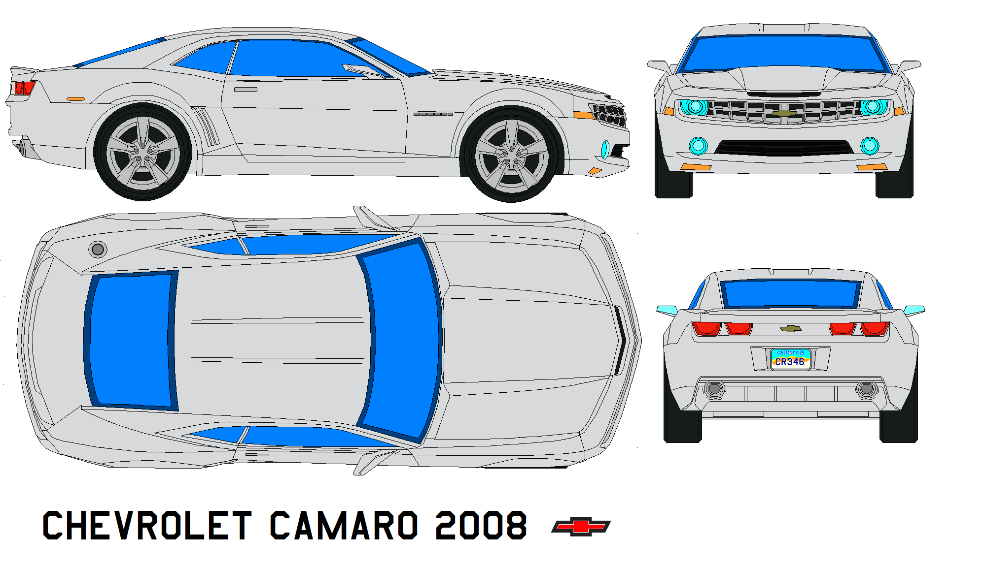 chevrolet camaro 2008 by bagera3005