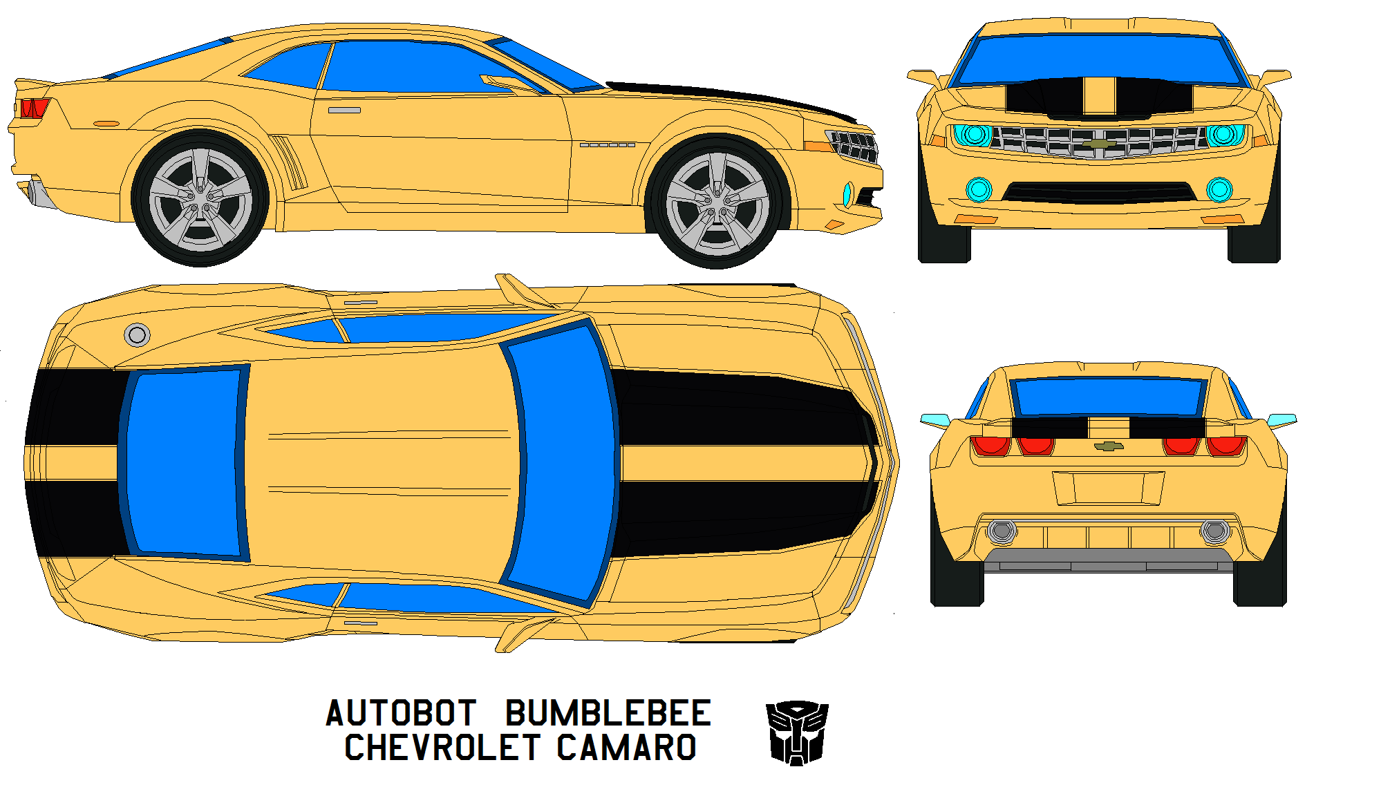 chevrolet camaro Bumblebee by bagera3005