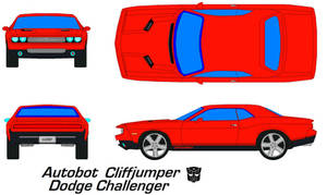 cliffjumper Dodge Challenger by bagera3005