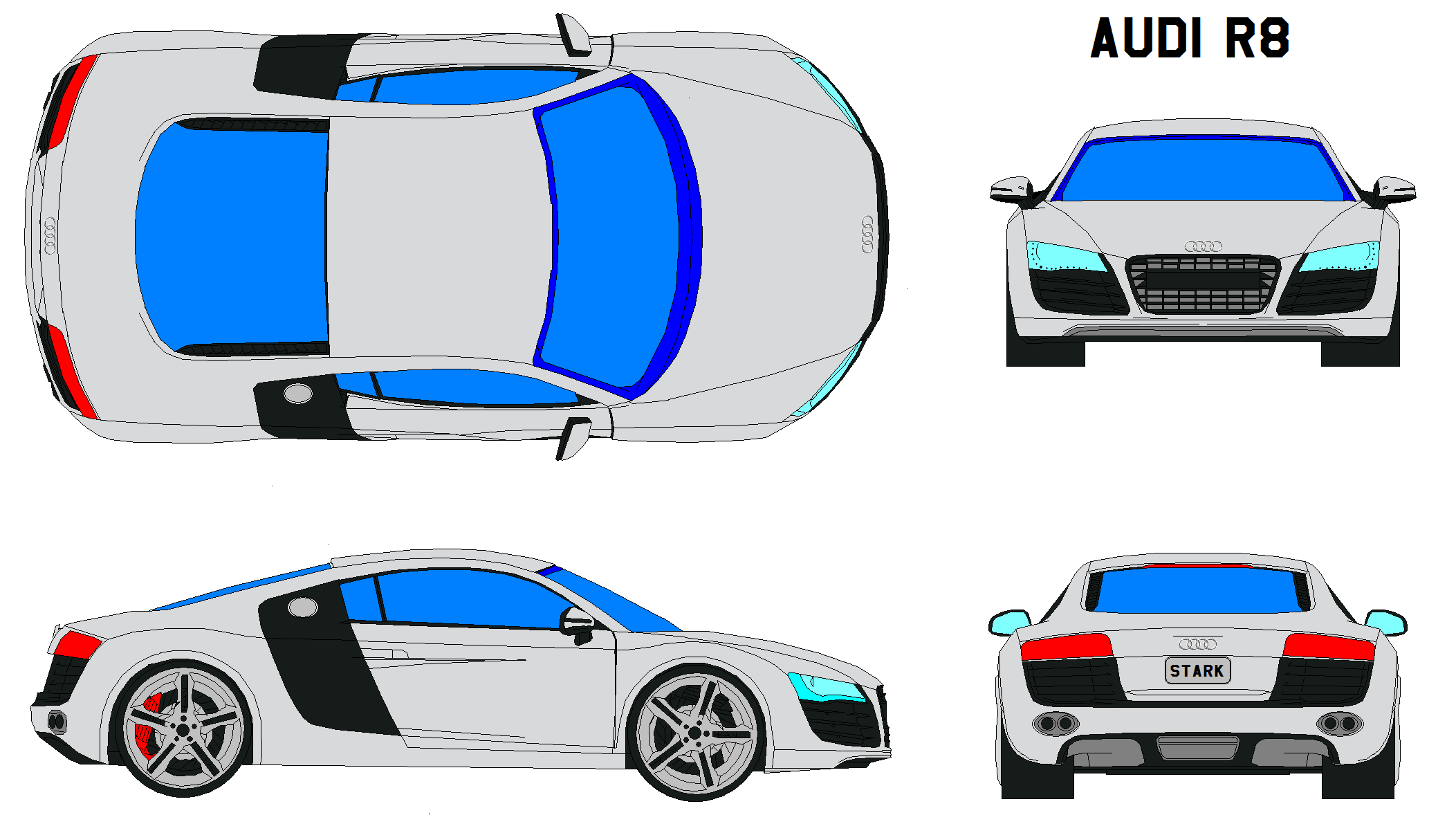 Sports Car Drawing Vector