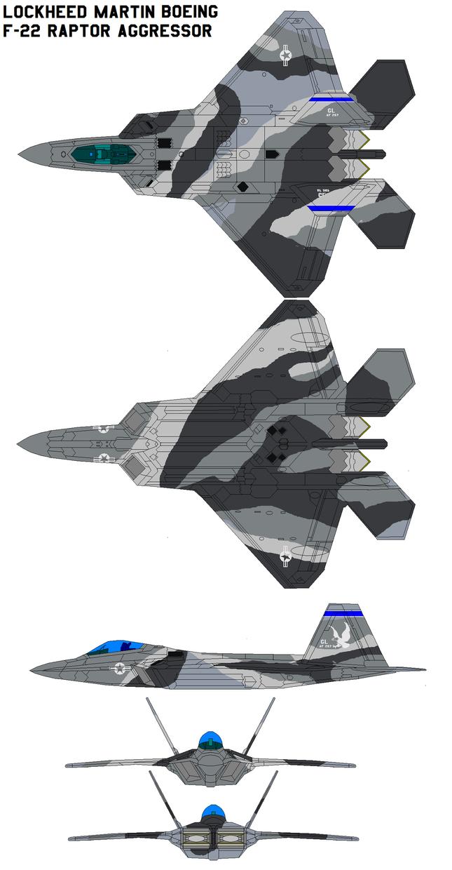 F-22 Raptor Aggressor by bagera3005
