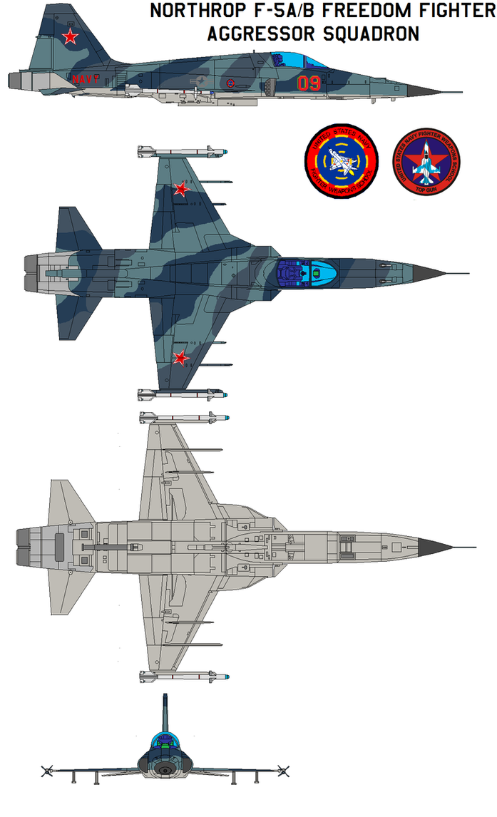Northrop F-5AB Freedom Fighter by bagera3005
