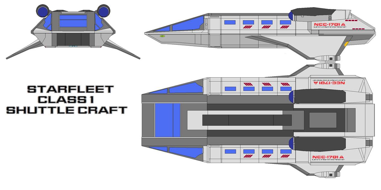 Starfleet Shuttle Class 1 By Bagera3005 On Deviantart