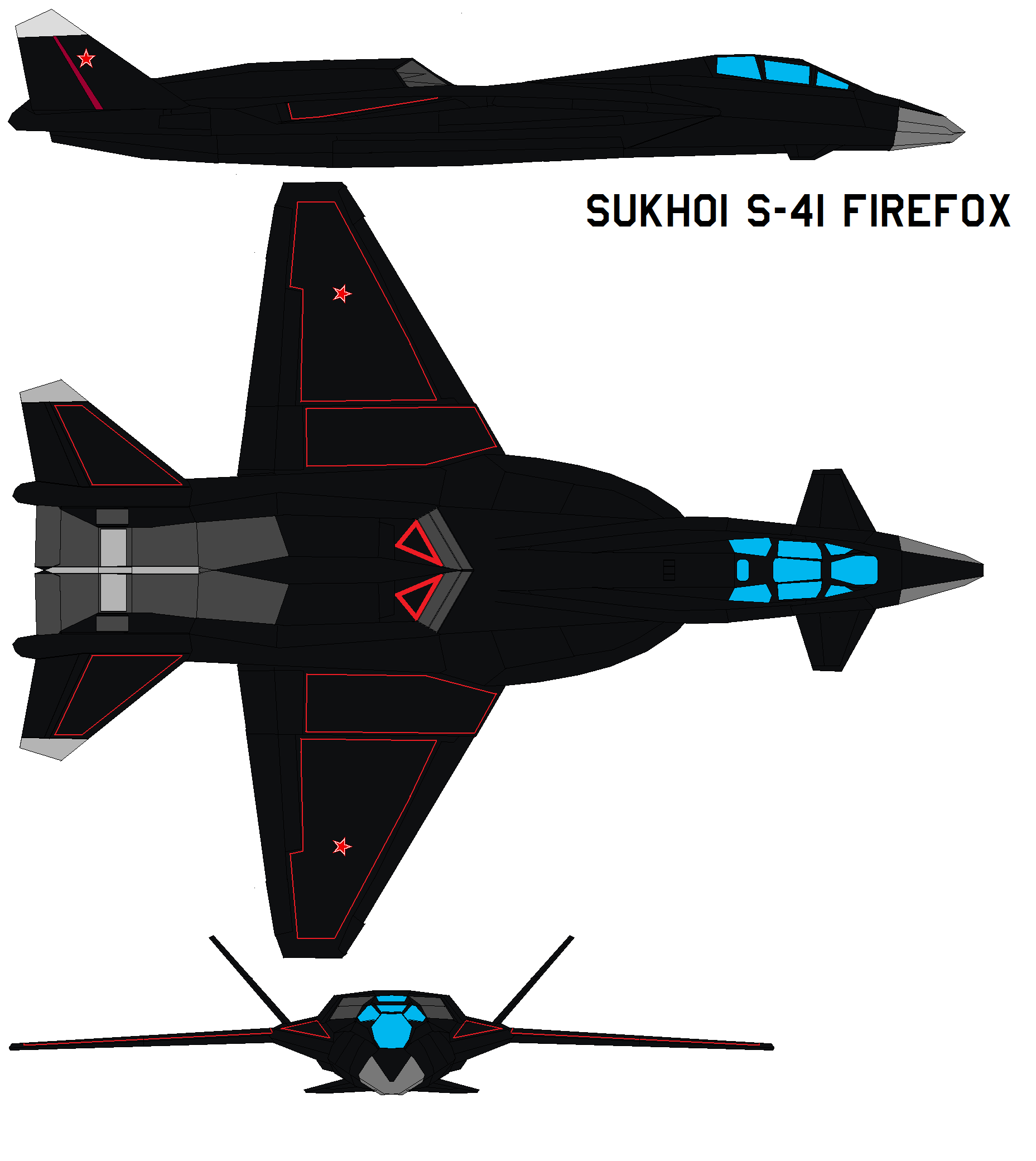 Sukhoi S-41 Firefox By Bagera3005 On DeviantArt