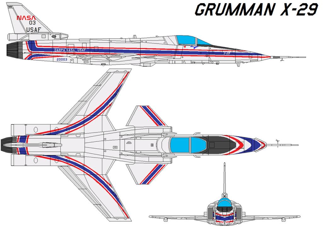 Grumman X-29 by bagera3005