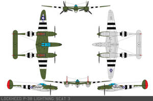 Lockheed P-38 Lightning scat 3 by bagera3005