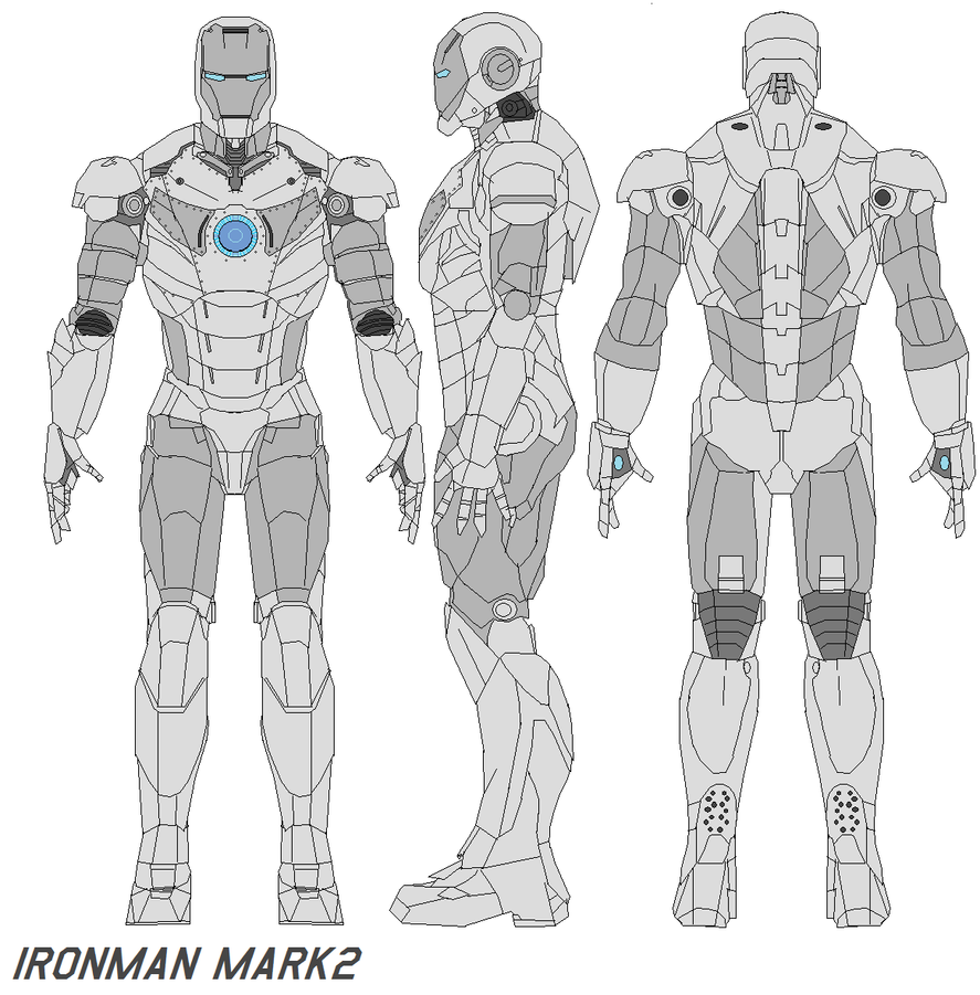 Iron Man Armor Blueprints If you want him to be a box