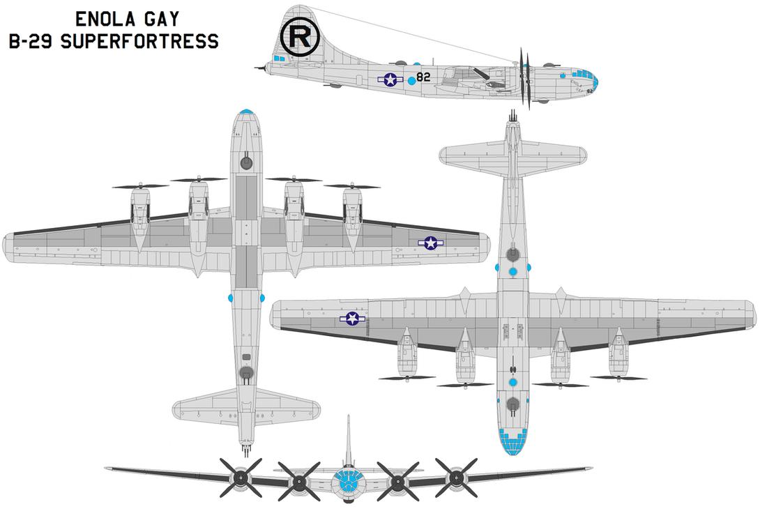 Enola Gay B-29 Superfortress by bagera3005