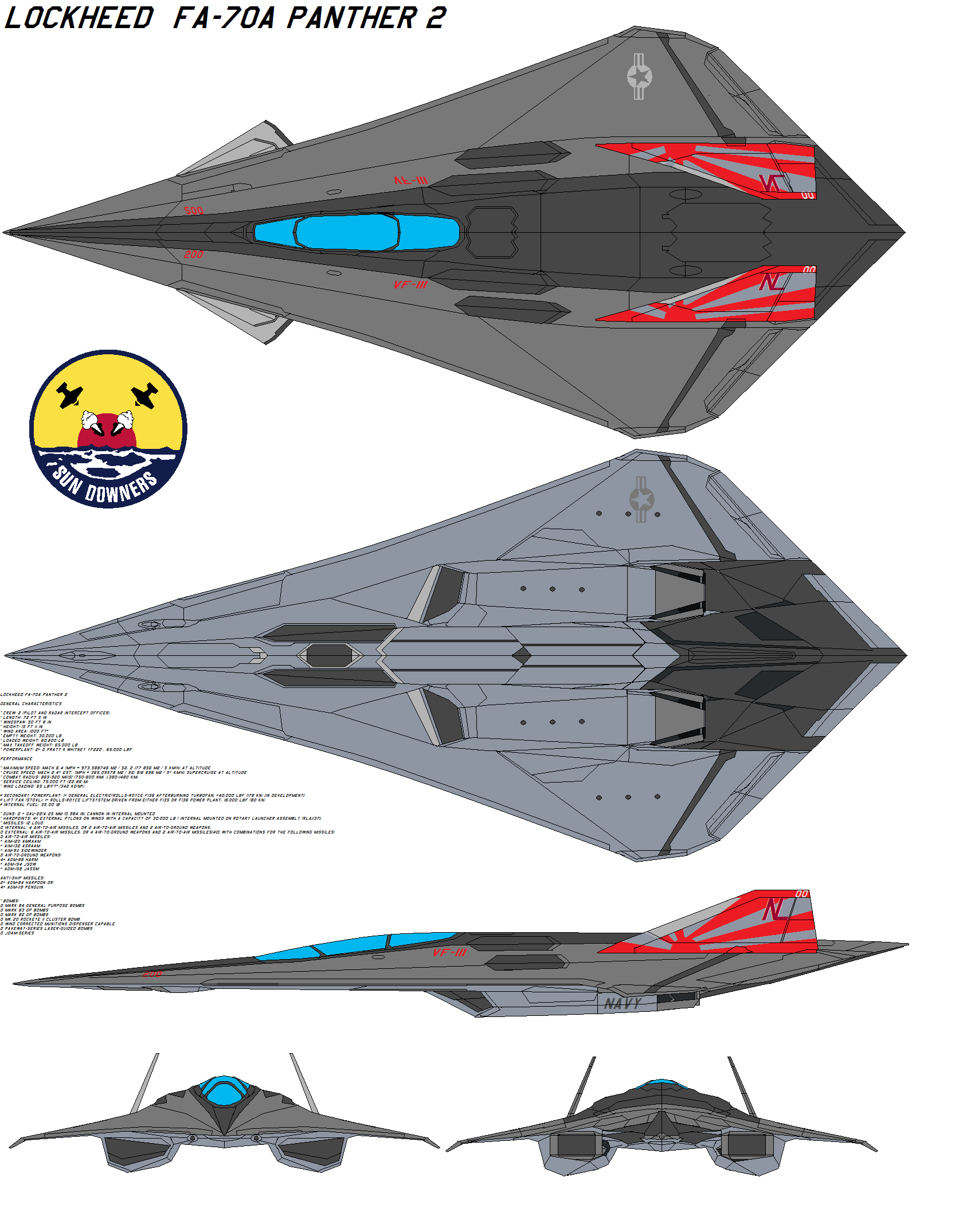 Lockheed Fa 70a Panther Vf 111 By Bagera3005 On Deviantart