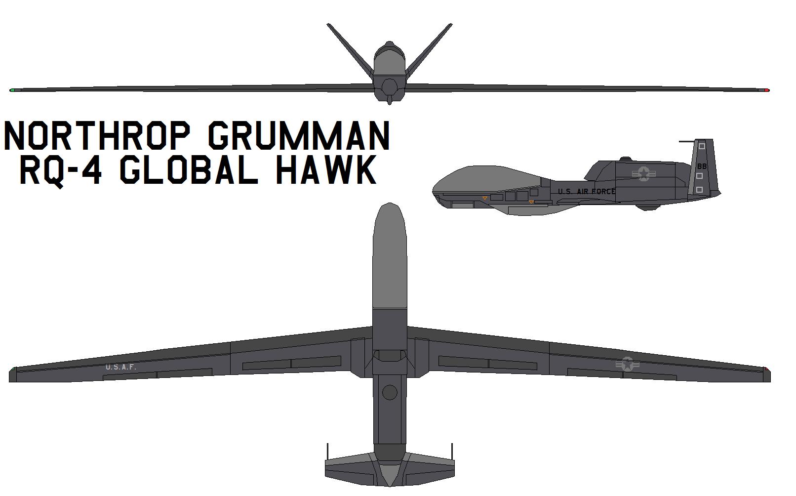 Northrop RQ-4 Global Hawk by bagera3005Global Hawk Drawing