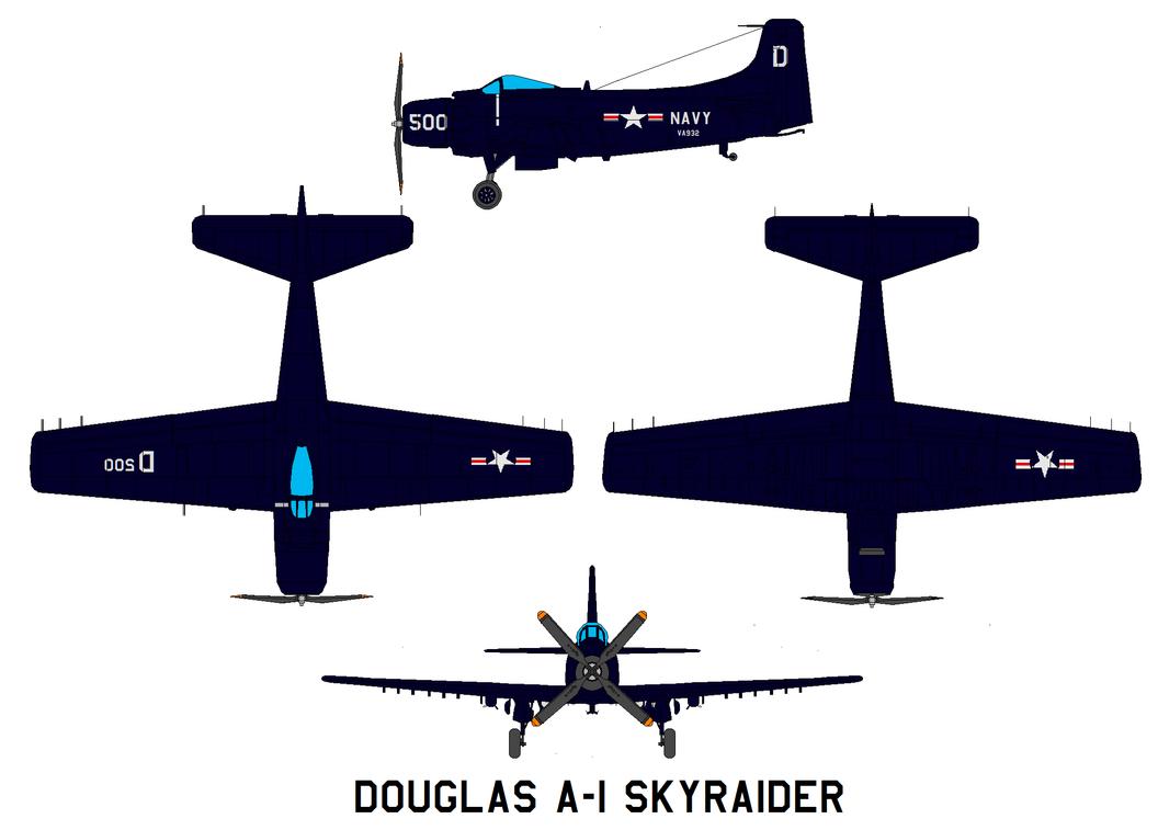 Douglas A-1 Skyraider ww2 by bagera3005
