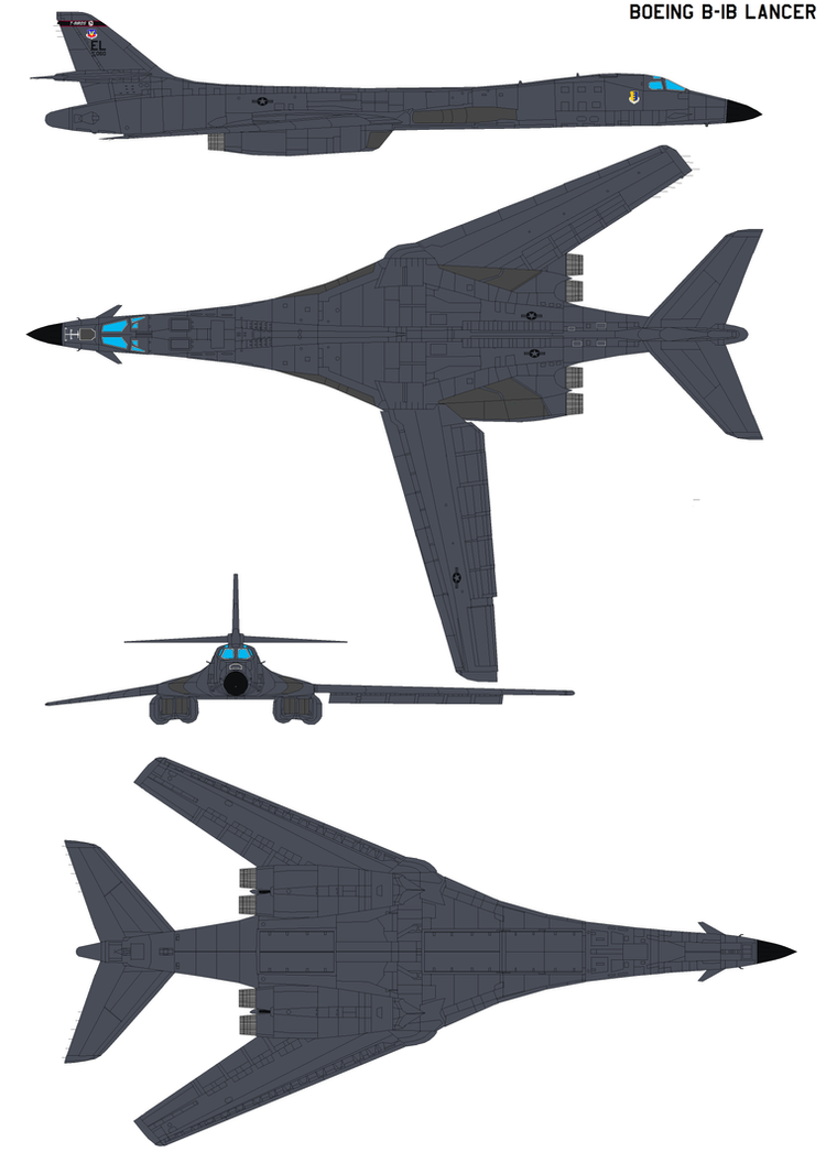 Boeing Rockwell B-1B Lancer by bagera3005 on DeviantArt B1 Lancer Supersonic