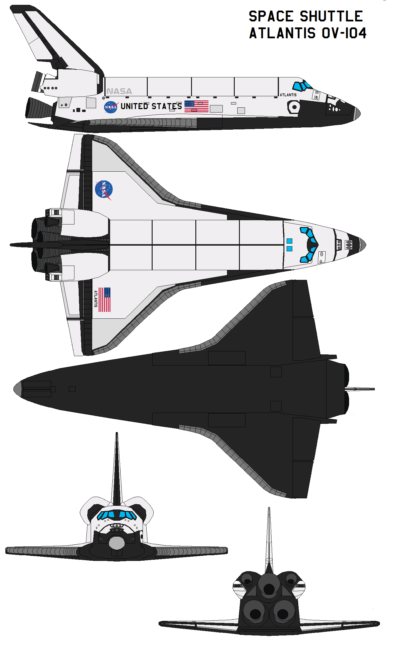 Space shuttle Atlantis OV-104 by bagera3005 on DeviantArt