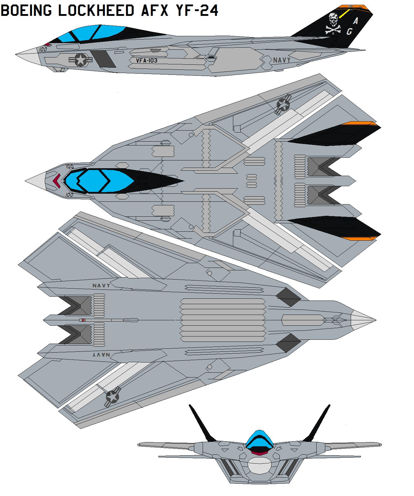 Boeing Lockheed AFX YF-24 by bagera3005
