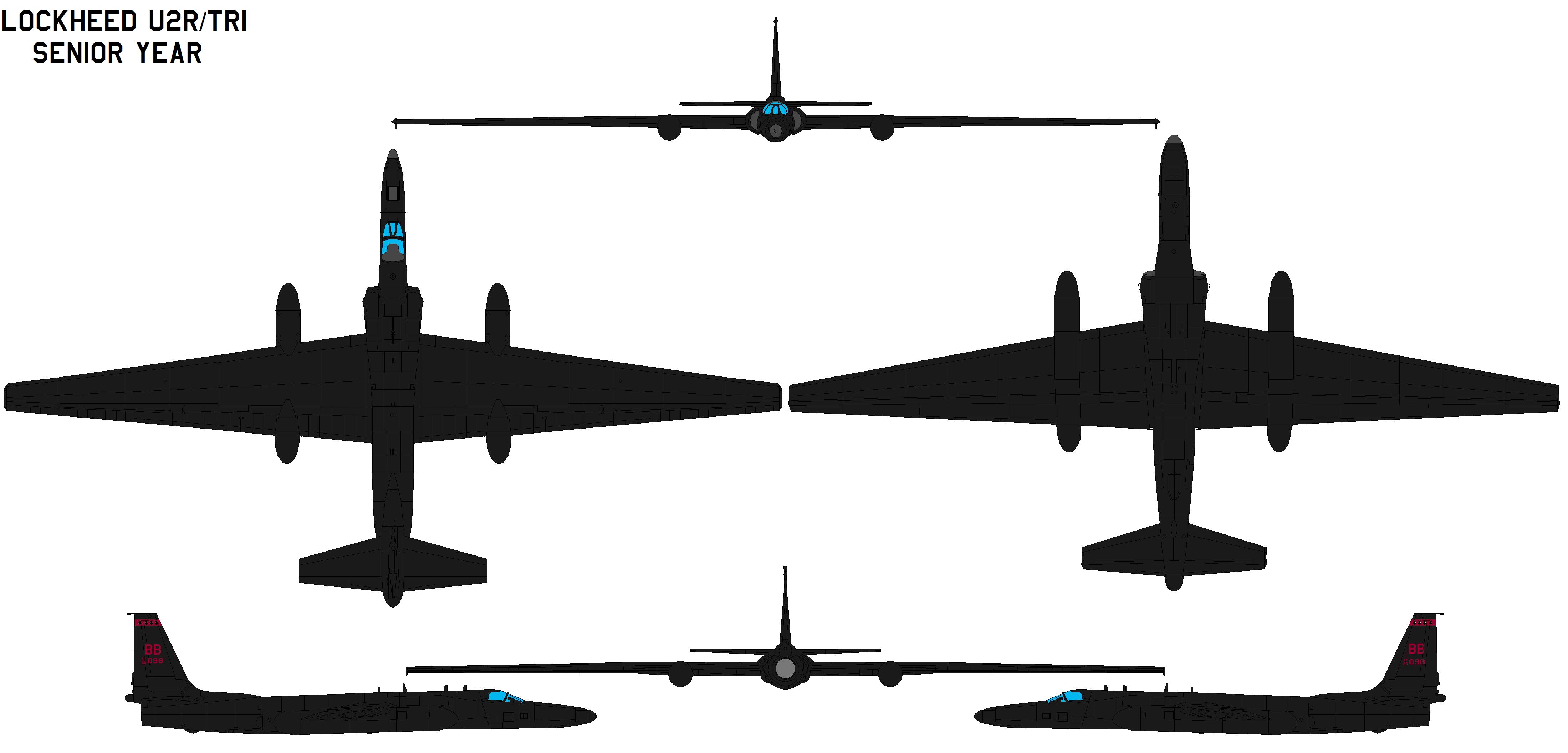 Lockheed U2  TR1  SENIOR YEAR