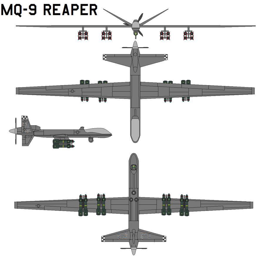 MQ-9 Reaper by bagera3005