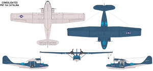 Consolidated PBY5a Catalina by bagera3005