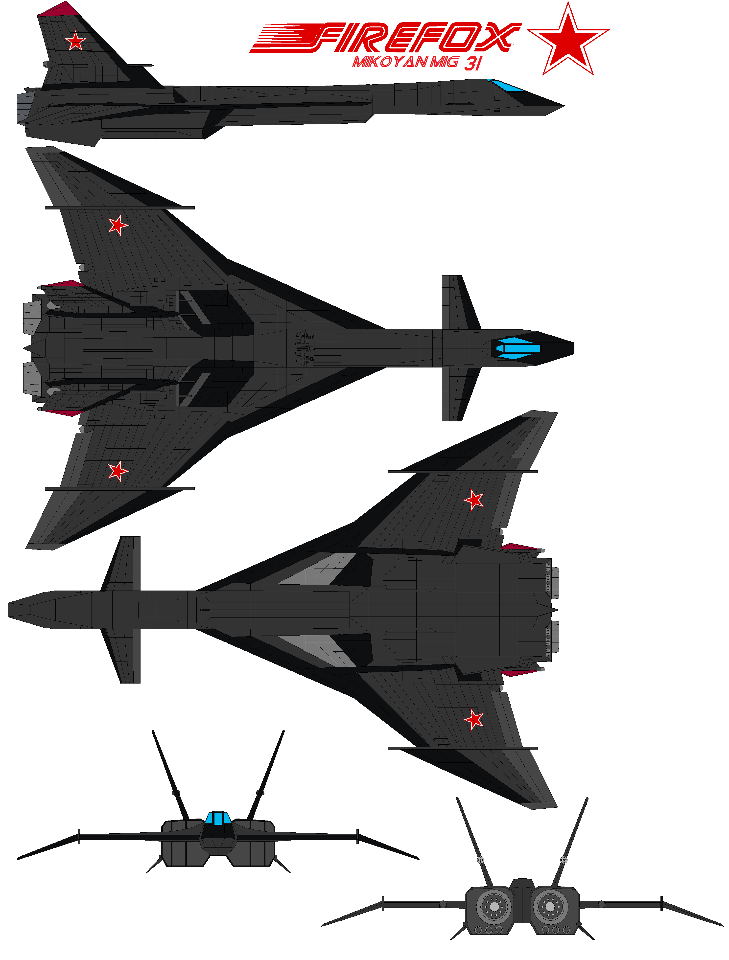 Firefox mig-31 aircraft 2 by bagera3005