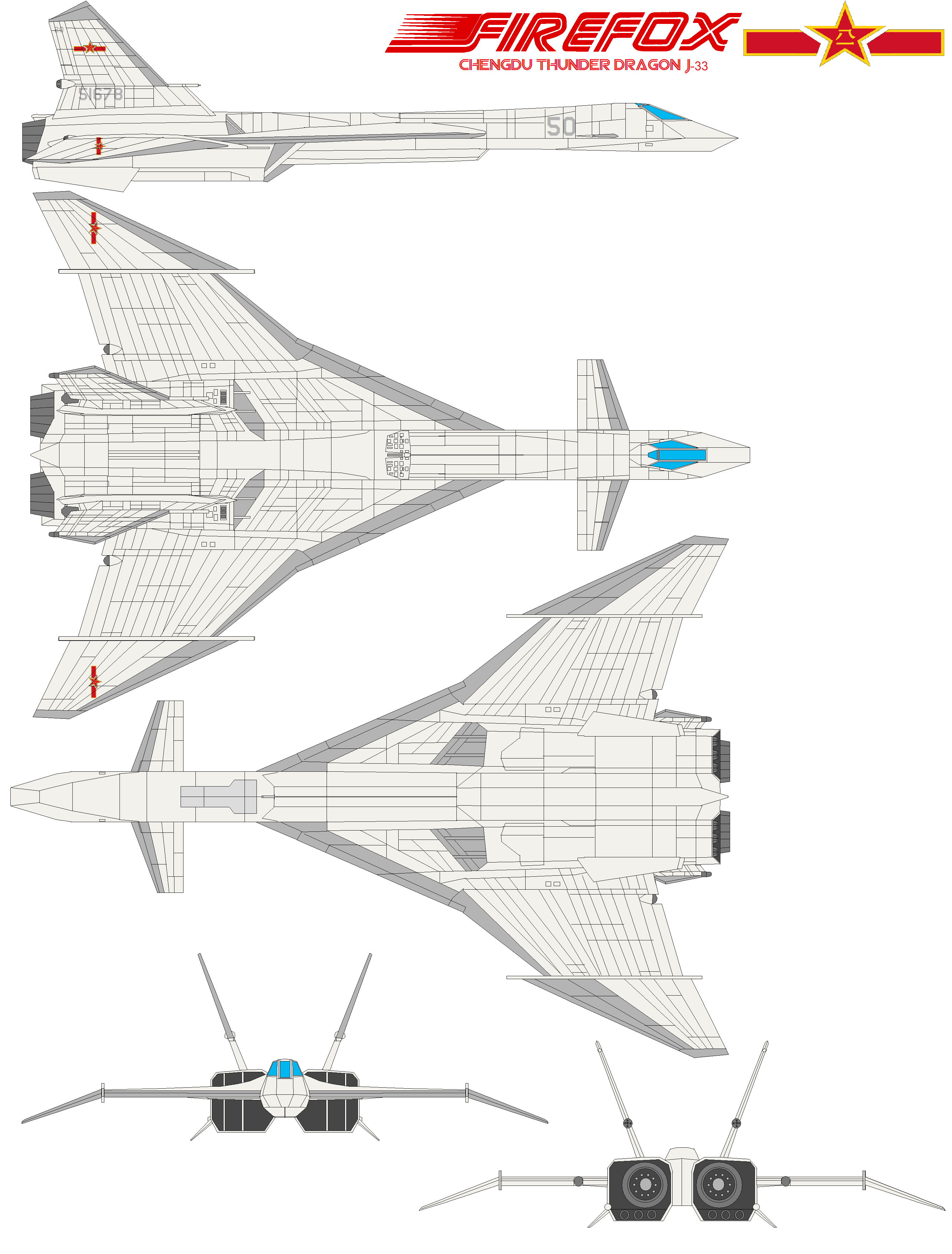 Firefox j-33 Thunder Dragon by bagera3005
