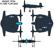 Vought XF5U Flying Flapjack by bagera3005