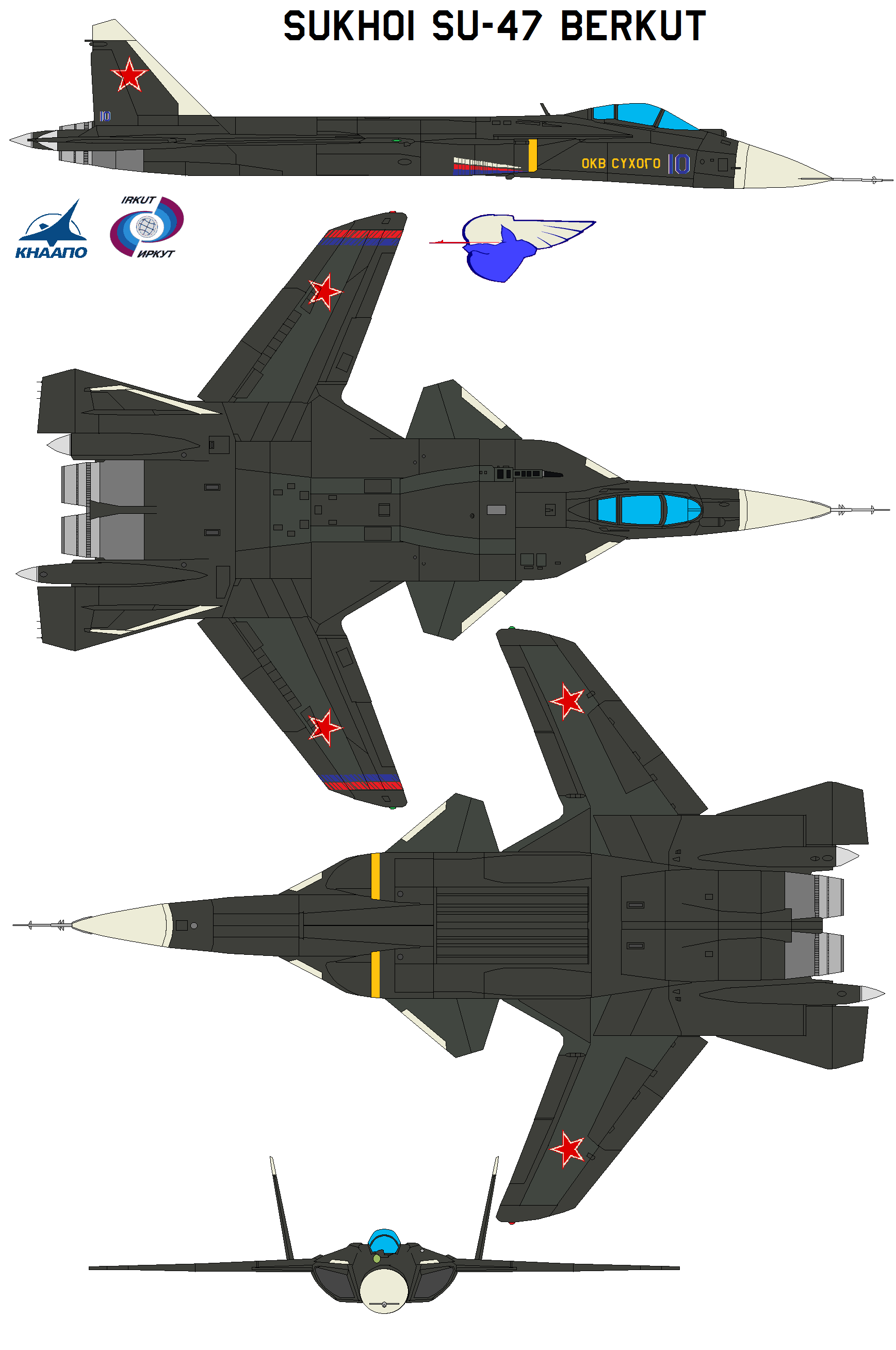 سوخوي سو-47 Su-47 Berkut Golden Eagle Sukhoi_Su_47_Berkut_by_bagera3005