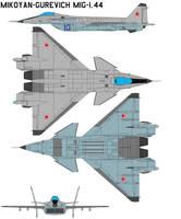 Mikoyan-Gurevich MiG-1.44 by bagera3005