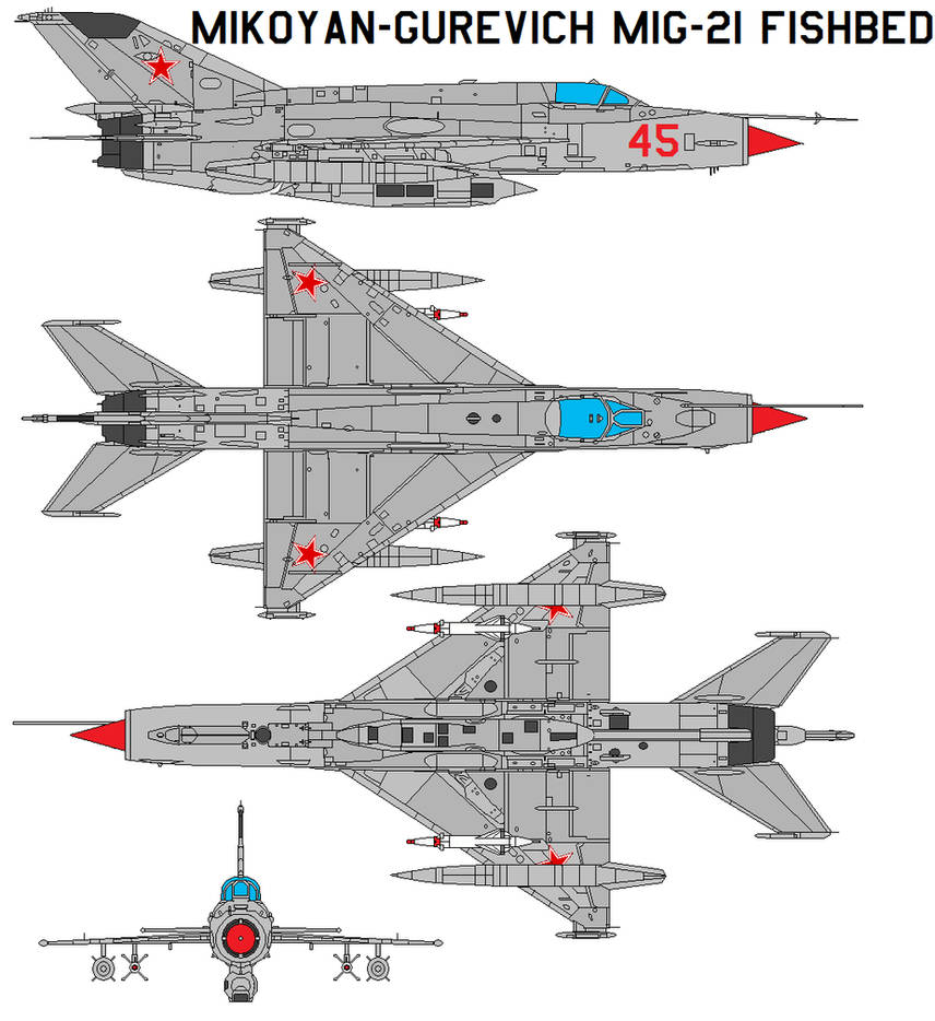 Mikoyan MiG-21 Fishbed By Bagera3005 On DeviantArt