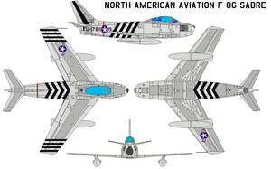 North American Aviation F-86 by bagera3005