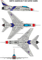 F-100A Super Saber by bagera3005