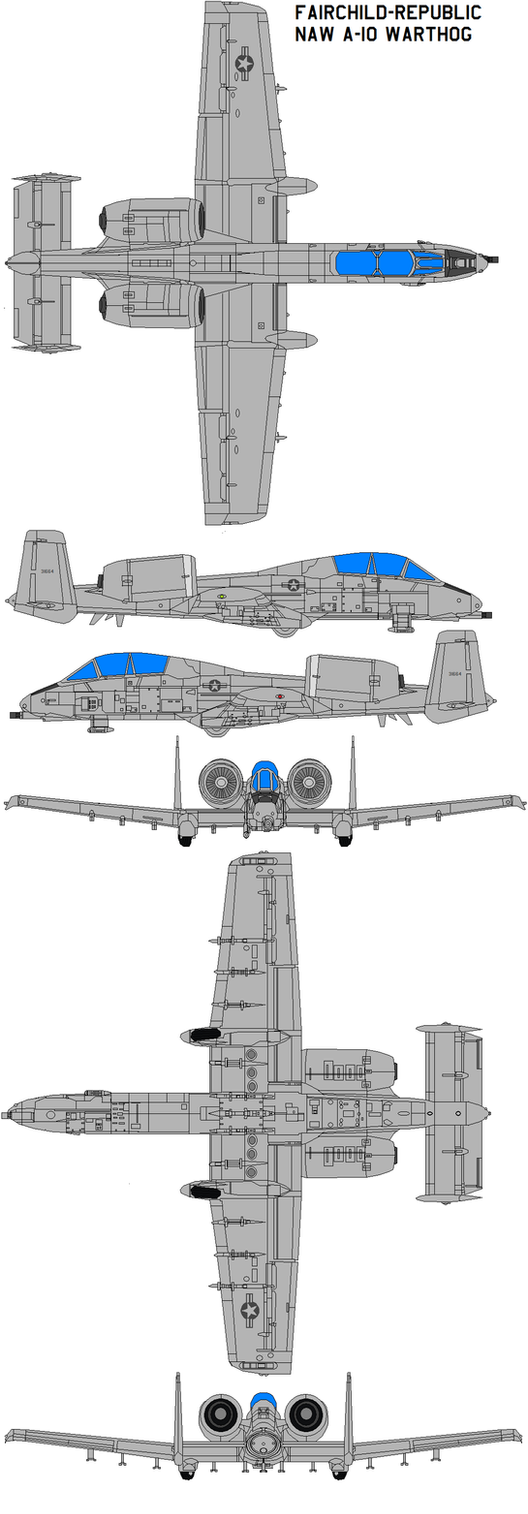 Fairchild NAW A-10 Warthog by bagera3005