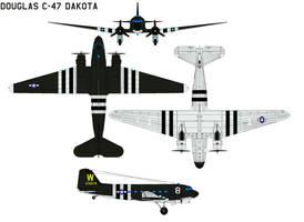 Douglas C-47 Dakota by bagera3005