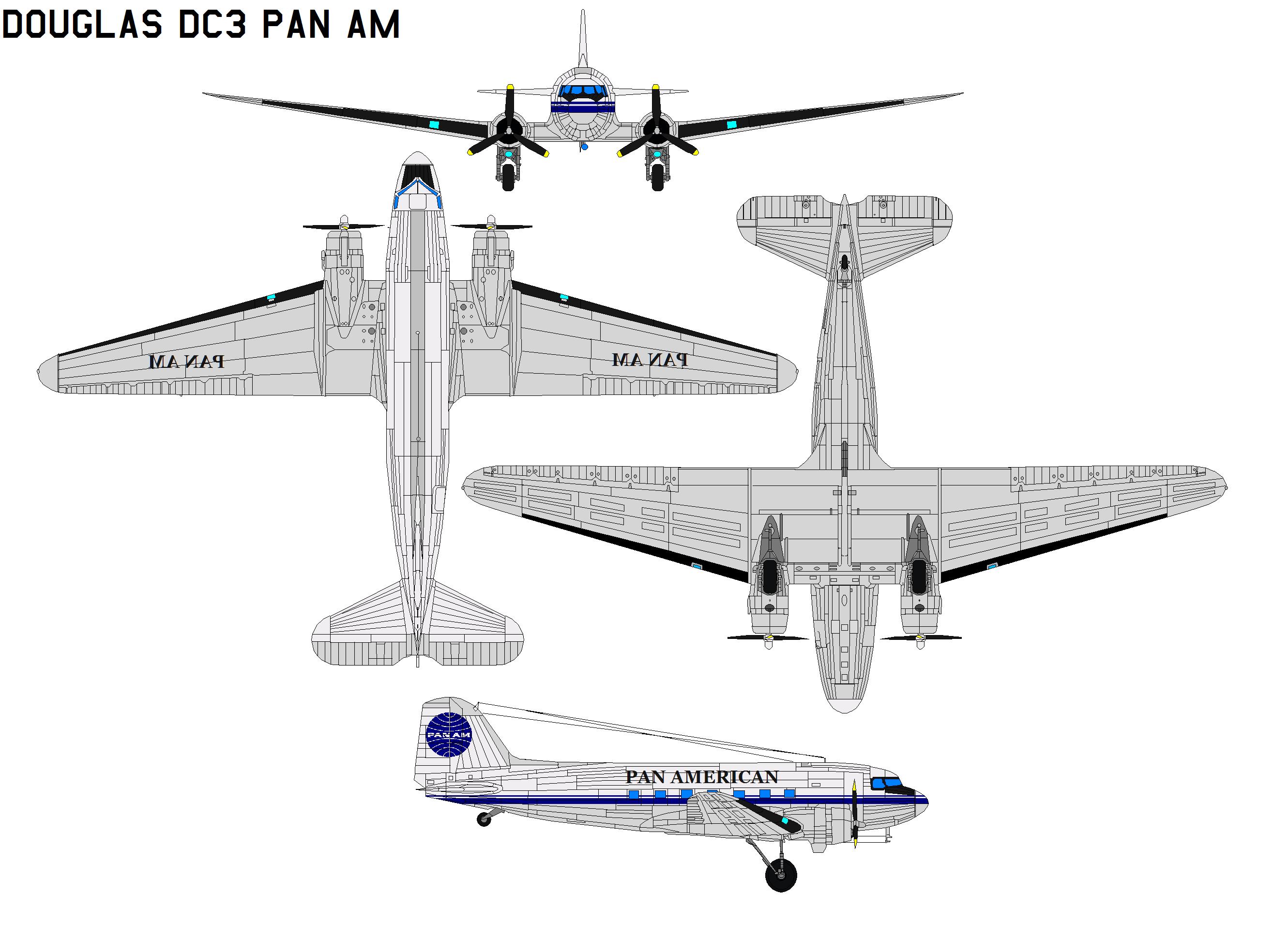 Douglas  DC-3 pan am by bagera3005