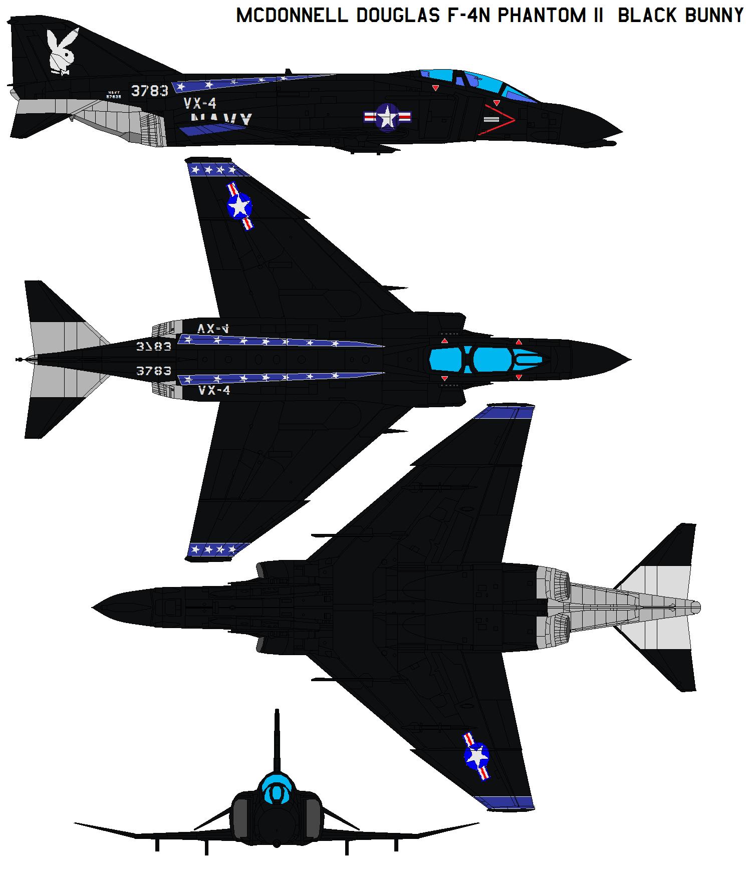 F-4N Phantom II Black Bunny By Bagera3005 On DeviantArt
